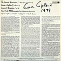 This the autograph page of Aaron Copland.