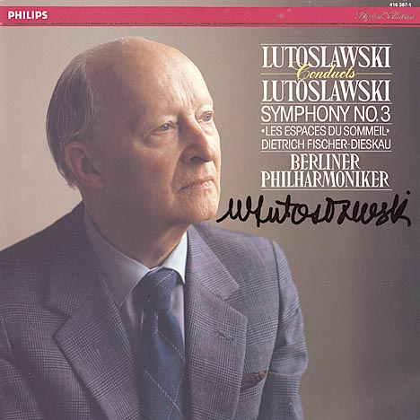 This the autograph page of Witold Lutoslawski.